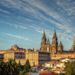 View of the cathedral of Santiago de Compostela, Galicia, Spain